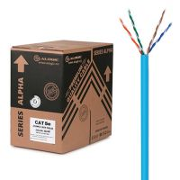 ALOGIC 305m 24AWG Blue PVC Solid CAT5e Network Cable - U-UTP / 4 Pair