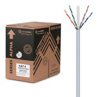 ALOGIC 305m 23AWG Grey PVC Solid CAT6 Network Cable - U-UTP / 4 Pair