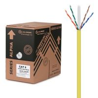 ALOGIC 305m 23AWG Yellow PVC Solid CAT6 Network Cable - U-UTP / 4 Pair