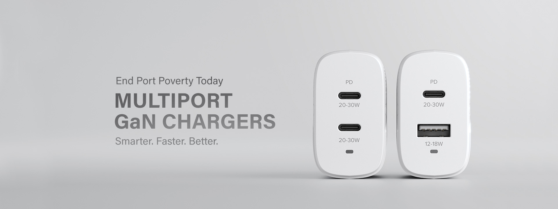Multiport GaN chargers